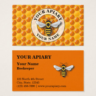 Apiary Honeycomb Template Business Card