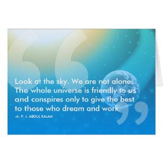 APJ Abdul Kalam success quote Card