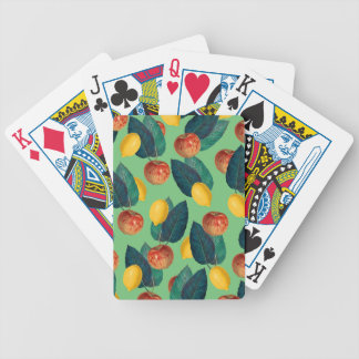 aples and lemons green bicycle playing cards