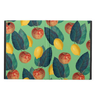 aples and lemons green case for iPad air