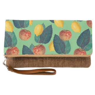 aples and lemons green clutch