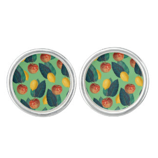 aples and lemons green cuff links