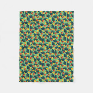 aples and lemons green fleece blanket