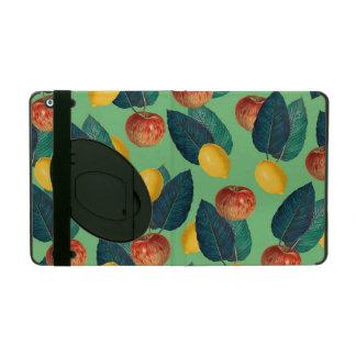 aples and lemons green iPad case