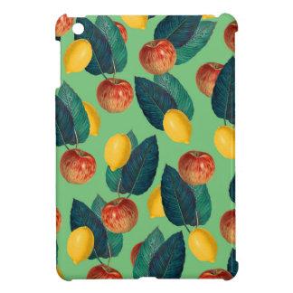aples and lemons green iPad mini cover