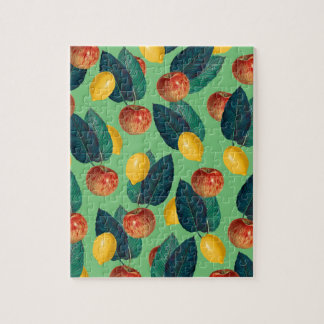aples and lemons green jigsaw puzzle