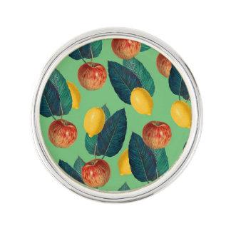 aples and lemons green lapel pin