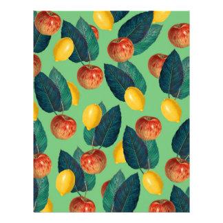 aples and lemons green letterhead