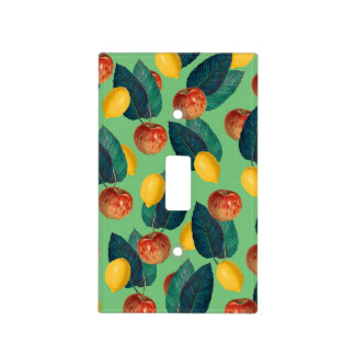 aples and lemons green light switch cover