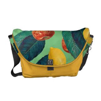 aples and lemons green messenger bags
