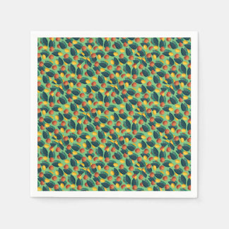 aples and lemons green paper napkin