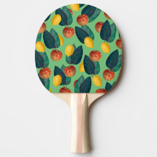 aples and lemons green ping pong paddle