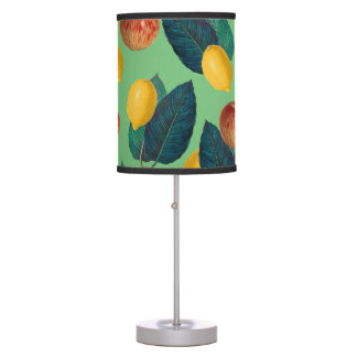aples and lemons green table lamp