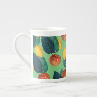 aples and lemons green tea cup