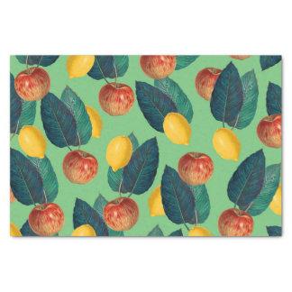 aples and lemons green tissue paper