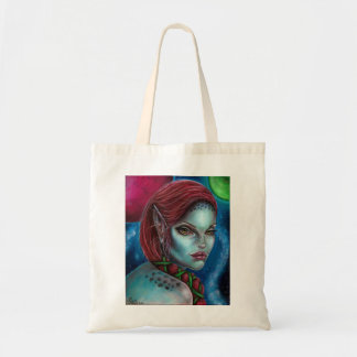 Apocalypse Alien Girl Space Art by Laurie Leigh Tote Bag