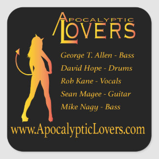 Apocalyptic Lovers Sticker! Square Sticker