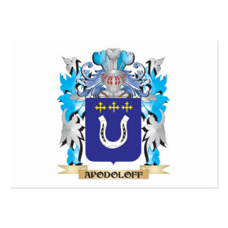 Apodoloff Coat Of Arms Business Card Templates