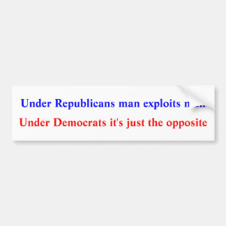 Apolitical bumpersticker bumper sticker