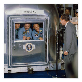 Apollo 11 Crew In Quarantine Poster