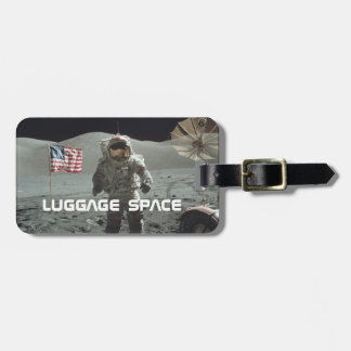 Apollo 11 luggage tag