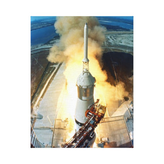 Apollo 11 Moon Landing Launch Kennedy Space Center Canvas Print