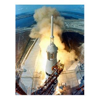Apollo 11 Moon Landing Launch Kennedy Space Center Postcard