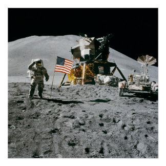 Apollo 15, Jim Irwin on the Moon. Huge photo print
