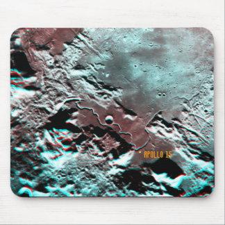Apollo 15 Landing Site Anaglyph Mousepad