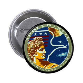 Apollo 17 2 inch round button