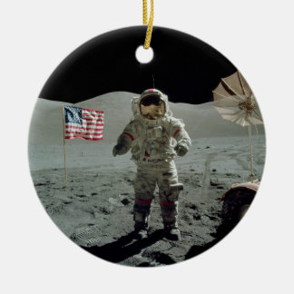 Apollo 17 Astronaut in the Taurus Littrow Valley Ceramic Ornament