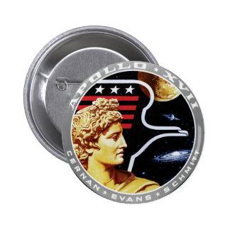 Apollo 17 NASA Mission Patch Logo 2 Inch Round Button