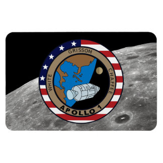 Apollo 1 Mission Patch Logo Magnet