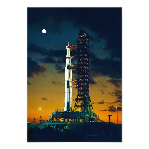 Apollo 4 Saturn V on Pad A Launch Complex 39 Personalized Announcements
