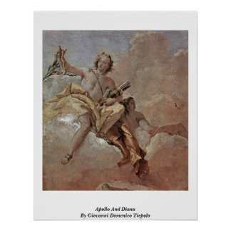 Apollo And Diana By Giovanni Domenico Tiepolo Poster