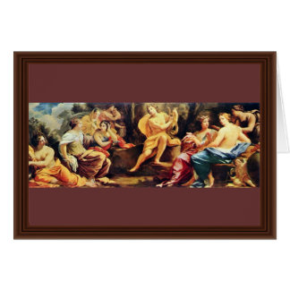 Apollo And The Muses,  By Vouet Simon Card
