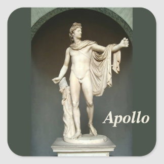 Apollo Belvedere Square Sticker
