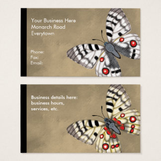 Apollo Butterfly Dorsal and Ventral Business Card