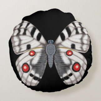 Apollo Butterfly Dorsal and Ventral Round Pillow