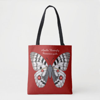 Apollo Butterfly Dorsal and Ventral Tote Bag