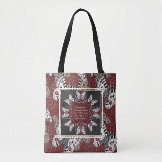 Apollo Butterfly Mandala Tote Bag