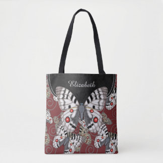 Apollo Butterfly Personalized Tote Bag