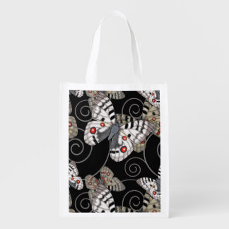 Apollo Butterfly Swirl Grocery Bag