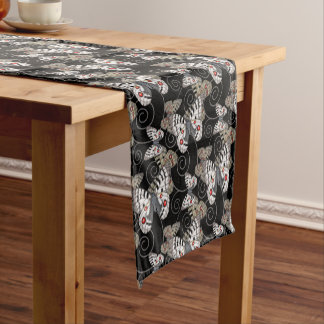 Apollo Butterfly Swirl Short Table Runner