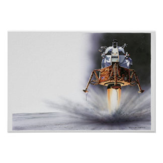 Apollo Eagle Lunar Module Poster