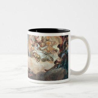 Apollo in his Sun Chariot driving Beatrice I Two-Tone Coffee Mug