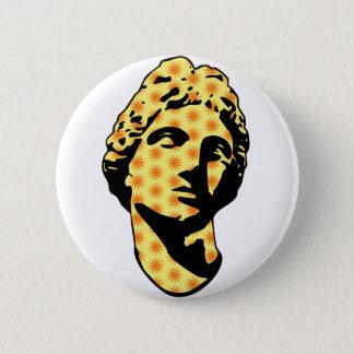 Apollo marble statue 2 inch round button