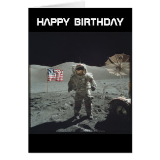 Apollo Moon Landing card