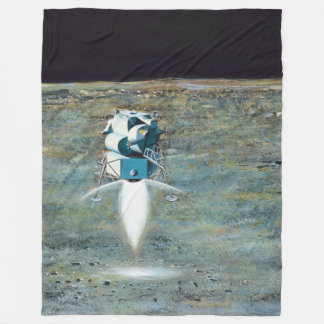 Apollo Program - Moon Mission Artist Concept Fleece Blanket