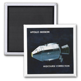 Apollo Program - Moon Mission Artist Concept Magnet